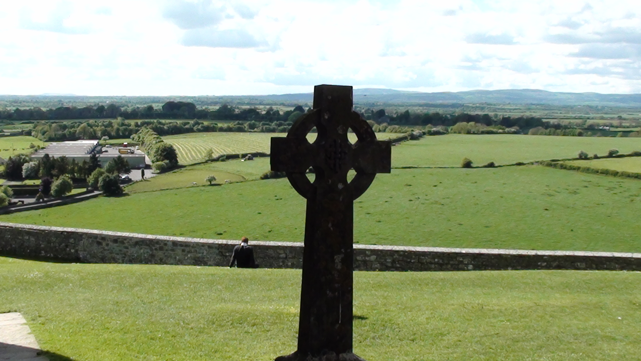 View from Rock of Cashel in County Tipperary