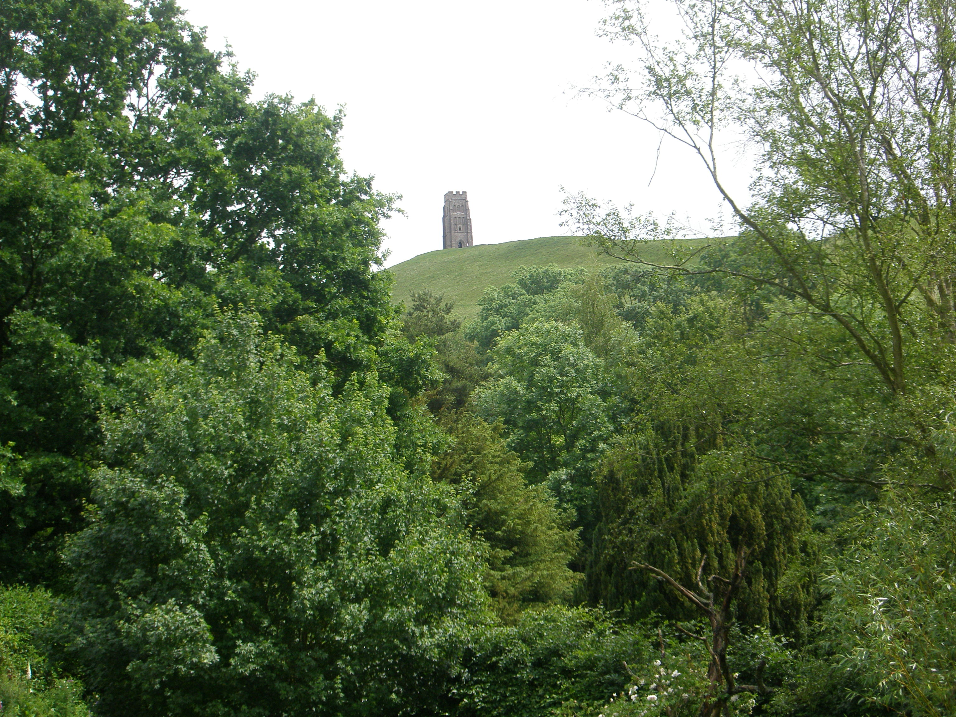 The Tor viewed from Chalice Well gardens