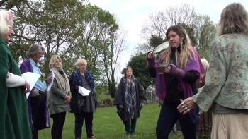 Beltane ceremony on spiritual tour of Ireland