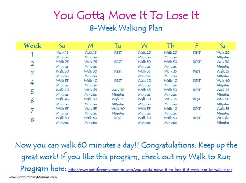 a walking program to lose weight