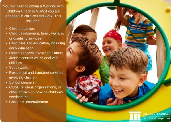 Working with Children Check in NSW | Go To Court Lawyers