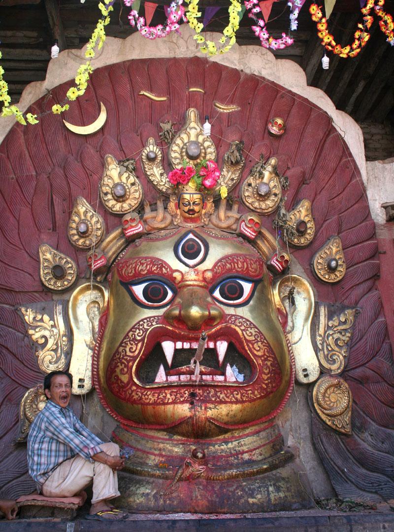 Swet Bhairav, Kathmandu Durbar Square