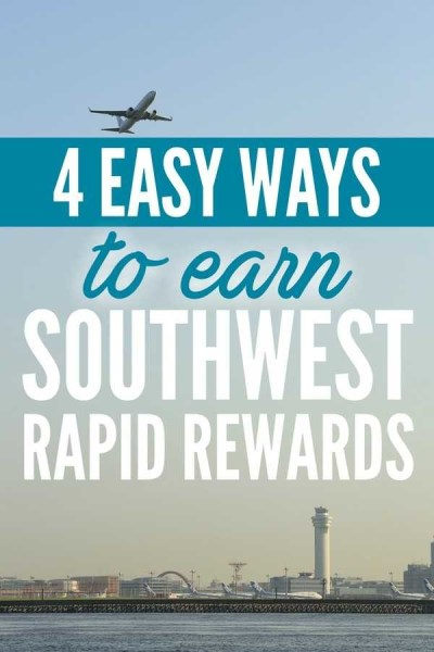4 Easy Ways to Earn Southwest Rapid Rewards Points via @GotoTravelGal