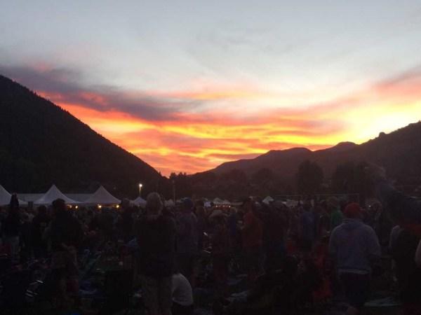 The RIDE Festival Telluride sunset