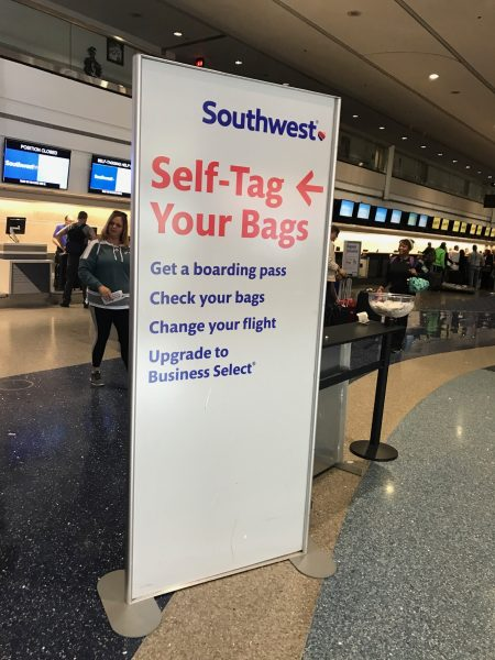 Southwest self tagging