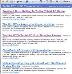 Tablet PC/UMPC Conversations