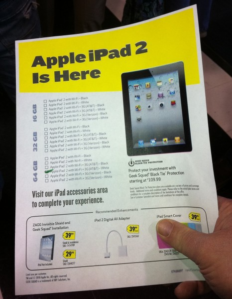 Best Buy iPad 2