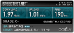 Speedtest of Overdrive