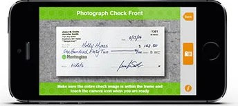 Use an iPhone remote check deposit app to cash a check without going to the bank.