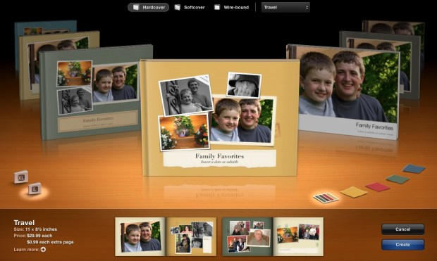 iPhoto Photo Book Layout