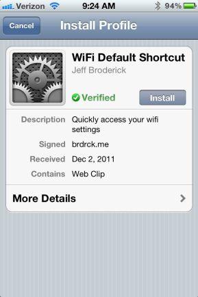 Install iPhone Setting Shortcuts no Jailbreak