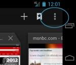 Menu Icon - Ice Cream Sandwich Android 4.0