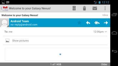 Email - Ice Cream Sandwich Android 4.0