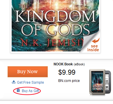 Give a Nook eBook as a gift