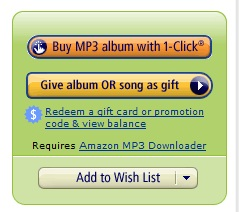 Give as a Gift button on Amazon