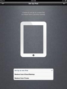 iPad 2 setup