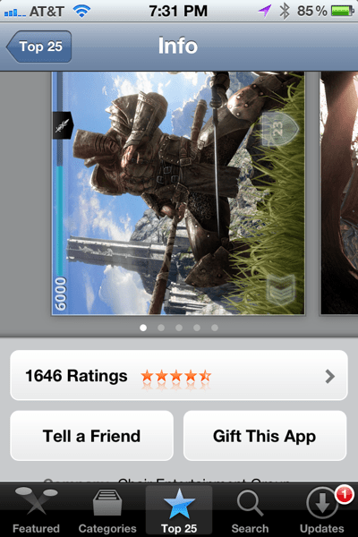 Gift an App from iOS App Store