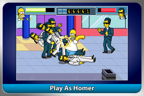 The Simpsons Arcade iPhone Game