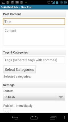 Post Screen - phones - WordPress 2.0