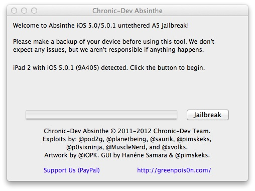 How to jailbreak the iPad 2 running iOS 5.0.1.