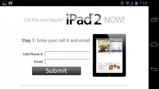 Free iPad Android notification spam