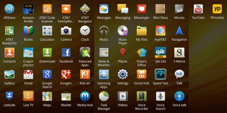 Galaxy Note Pre-Loaded Apps