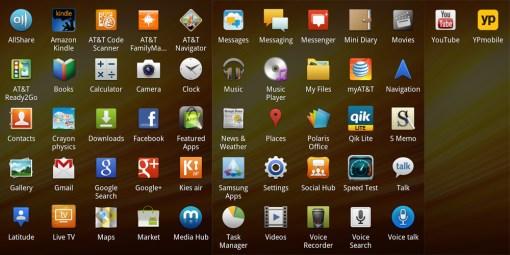 Galaxy Note Pre-Loaded Apps