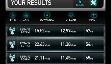 Galaxy Note LTE Speedtest