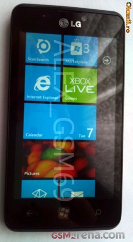 LG Miracle Windows Phone Poses for the Camera