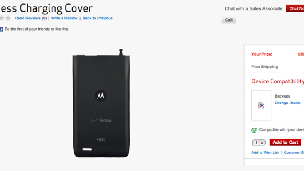 the latest f086d f7ea4 Verizon Offers Wireless Charging Option for Motorola Droid 4