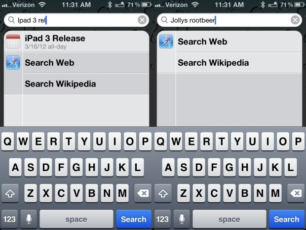 Search Faster on iPhone