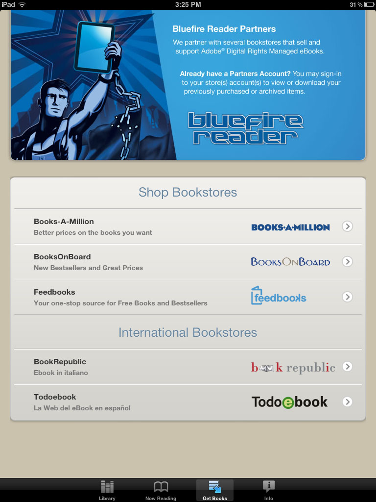 Best ereader apps for iphone and ipad bluefire reader bookstore portal fandeluxe Gallery