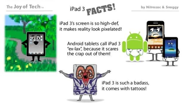 iPad 3 facts joy of tech