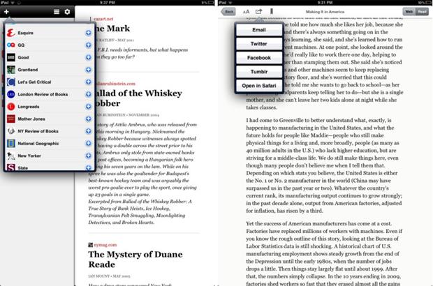 Longform for iPad