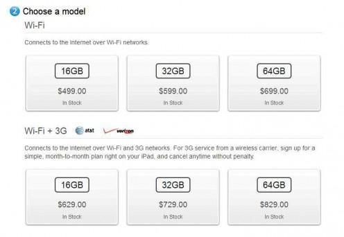 iPad 2 Pricing