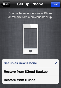 Set Up iPhone Screen