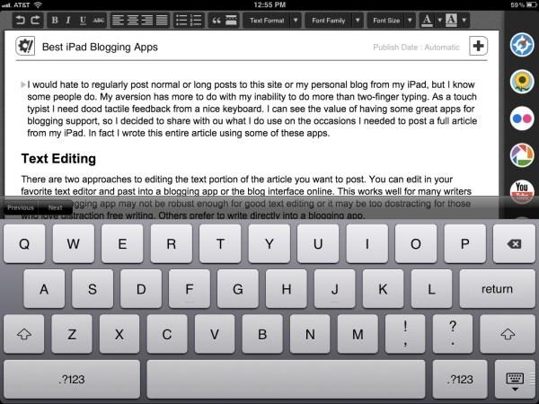 Blogsy Text Editor