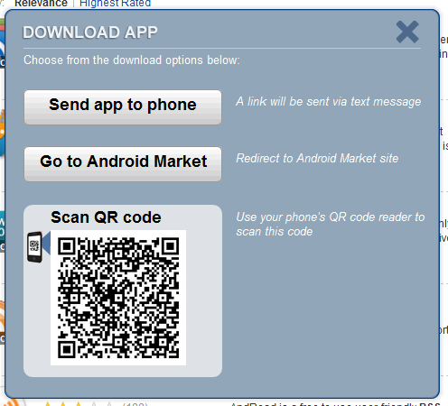 Yahoo App Search go to Market