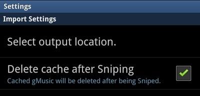 Cloud Music Sniper Settings