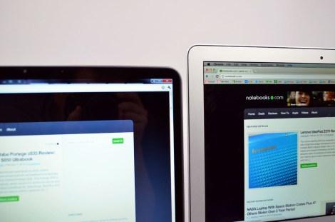 Dell XPS 13 Ultrabook vs. MacBook Air Displays