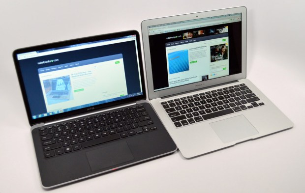 Dell XPS 13 Ultrabook vs. MacBook Air angle