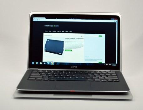 Dell XPS 13 Ultrabook vs. MacBook Air on top