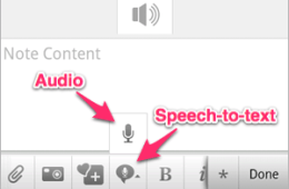 Evernote for Android speech-to-text