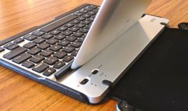 ZAGGfolio Keyboard Case buttons for power and bluetooth
