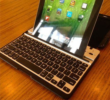 ZAGGfolio Keyboard Case with ipad in portrait mode
