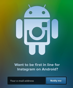 Instagram Android SIGNUP