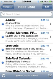 Mail on iPhone