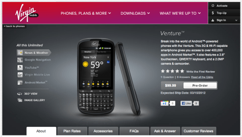 Virgin Mobile Appeals to Business-Minded Android Users with QWERTY