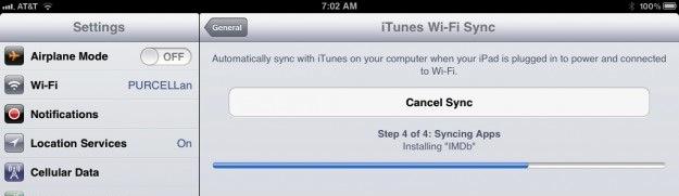WiFi Sync iPad iPhone backup