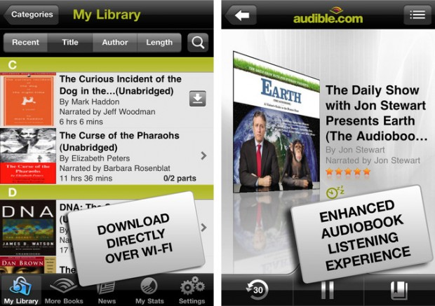 how to listen to audible on iphone